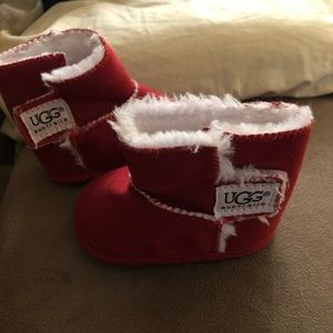 Red infant size 1 uggs